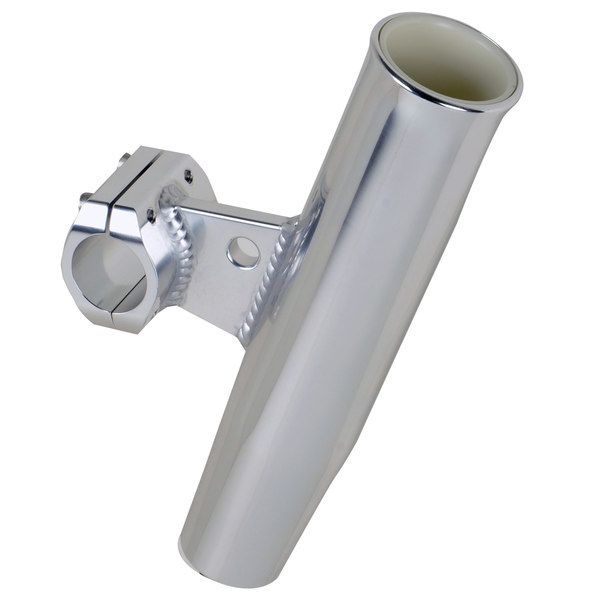 "Aluminum Horizontal Clamp-On Rod Holder, Fits 1.66"" Measured Outside Diameter"