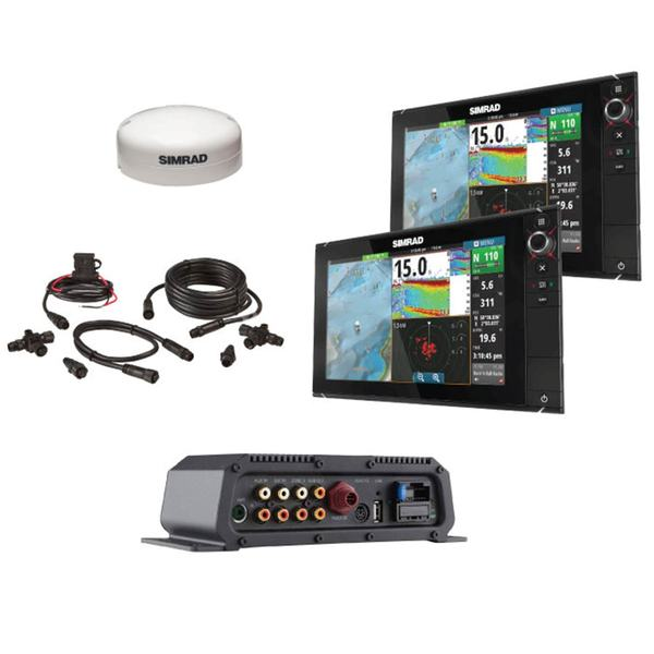 0477d65c7d86 SIMRAD NSS12 evo2 Navigation System in a Box with GPS, Sounder, Charts, GPS  Heading Sensor and Cables | West Marine