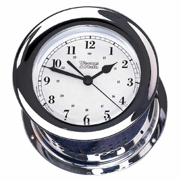 Atlantis Series Chrome Ship's Bell Clock (Quartz)