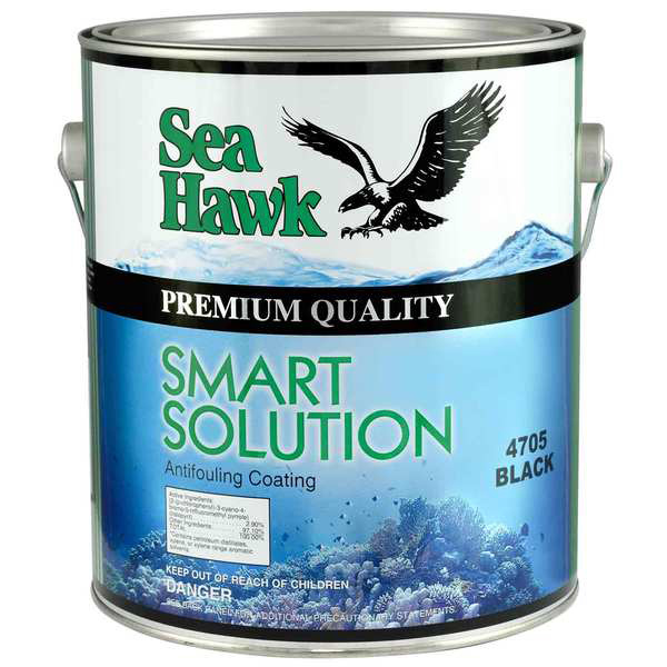 Sea hawk smart solution antifouling paint white gallon for Seahawk boat paint