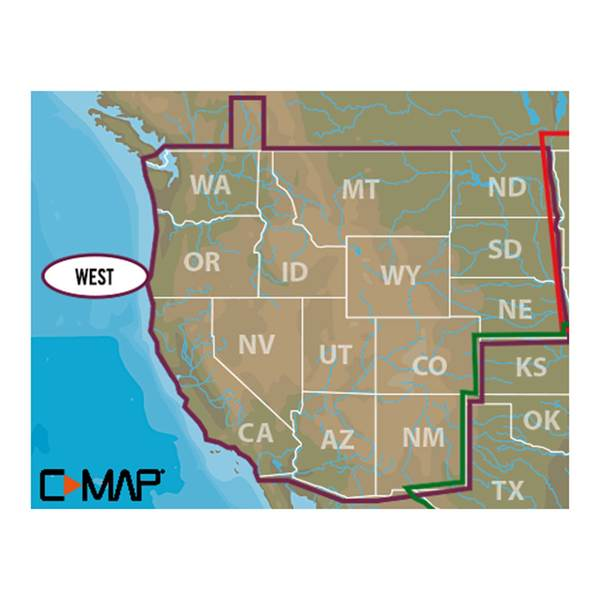 West U.S. C-MAP Lake Insight HD microSD/SD Card