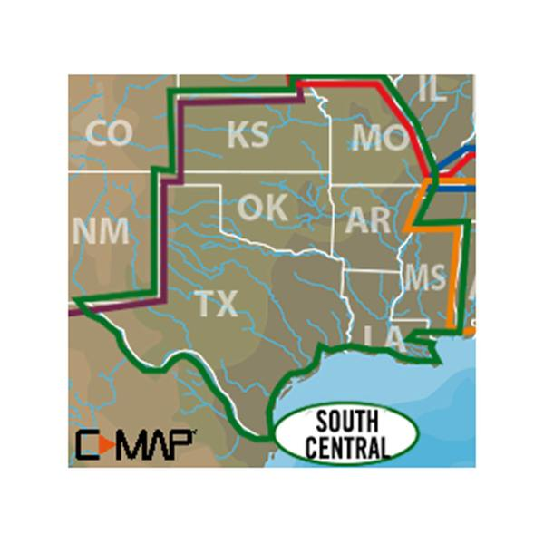 CMAP South Central US CMAP Lake Insight HD MicroSDSD Card - Map of south central us