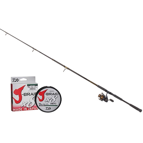 Daiwa 7 39 bg5000 saltwater offshore spinning combo west for Tuna fishing rod and reel combos