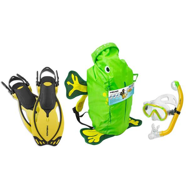 Sea Pals Frog Themed Junior Snorkel Set, Small/Medium