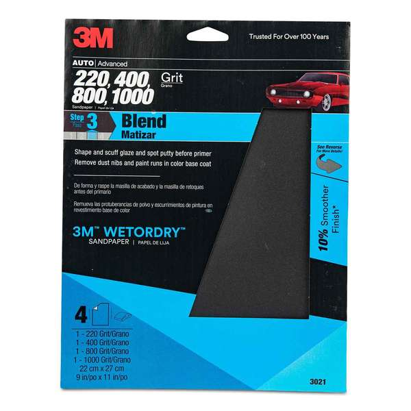 Wetordry™ Sandpaper Sheets, Assorted