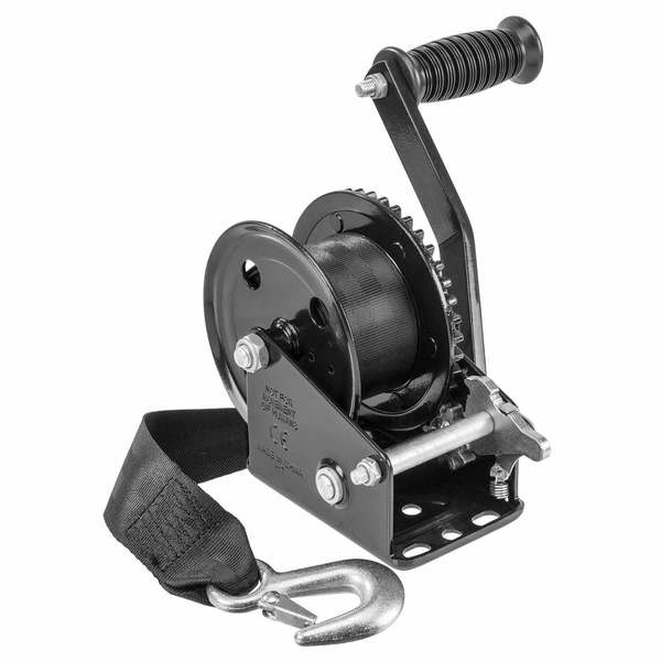 1500 lb. Manual Trailer Winch with Strap