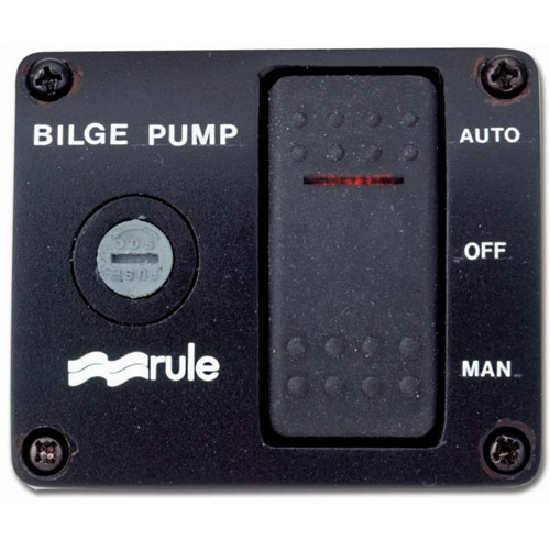 Three-Way Rocker Panel Bilge Pump Switch