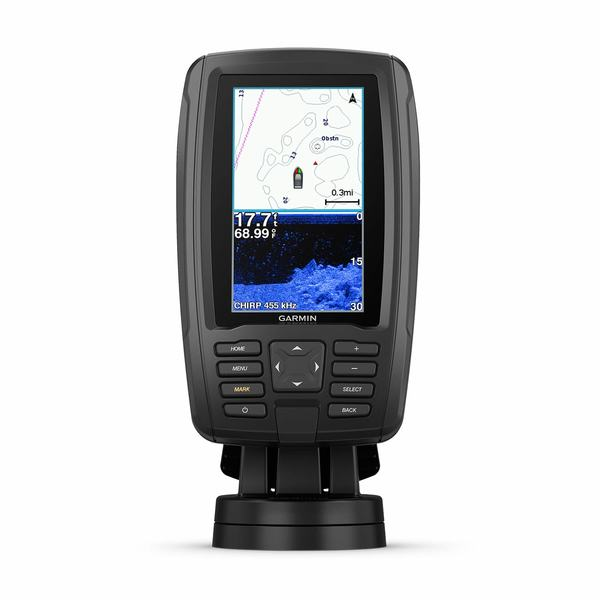 ECHOMAP™ Plus 44cv Fishfinder/Chartplotter Combo with CV20-TM Transducer and BlueChart g2 Coastal Charts
