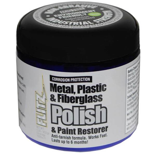 Metal Polish Cream Paste, 16 oz.