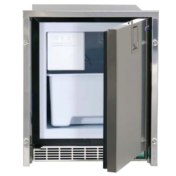 Low Profile Crescent White Ice Maker, Stainless Steel Door, 230V