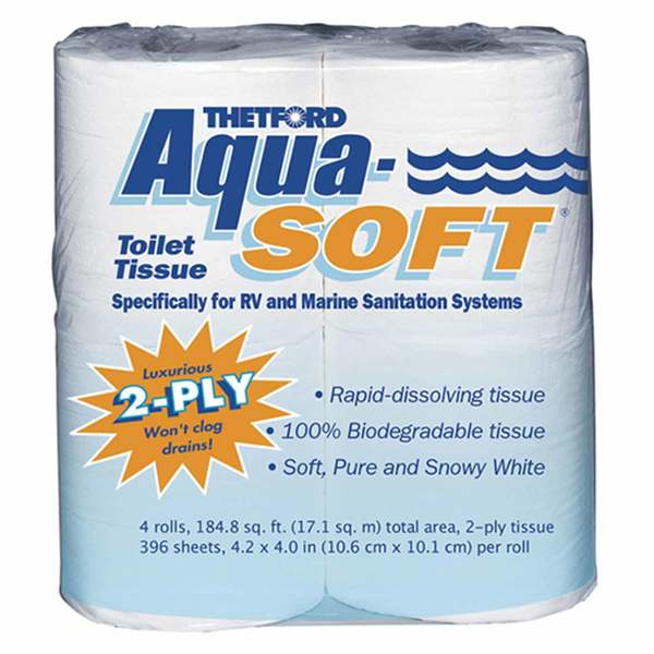 Aqua Soft Toilet Tissue, 4-Pack
