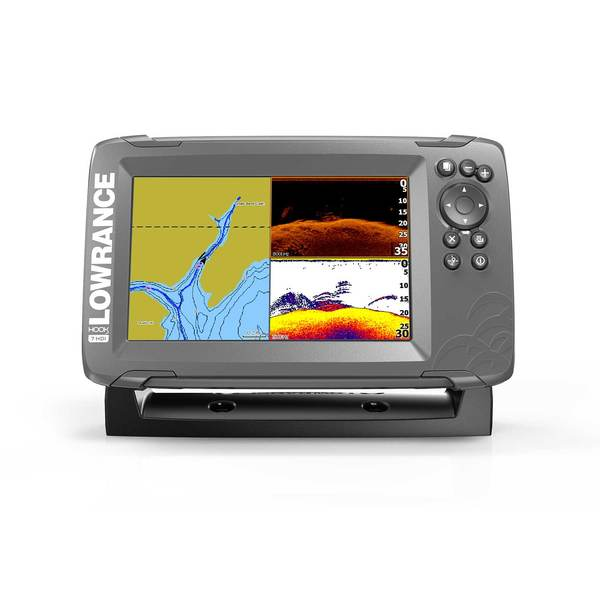 HOOK² 7 Fishfinder/Chartplotter Combo with SplitShot Transducer and US Inland Charts