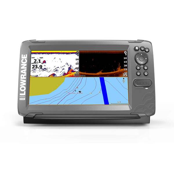 HOOK² 9 Fishfinder/Chartplotter Combo with SplitShot Transducer and US/CAN NAV+ Charts