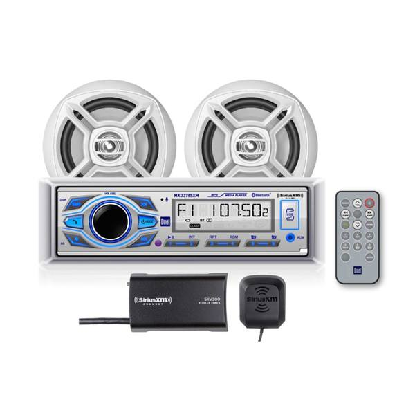 MCP378SXM Digital Media Receiver with SiriusXM® Tuner, Bluetooth, USB and MP3, Speaker Package