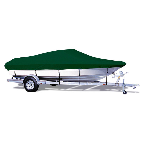 "V-Hull Runabout Cover, OB, Forest Grn, Hot Shot, 20'5""-21'4"", 102"" Beam"