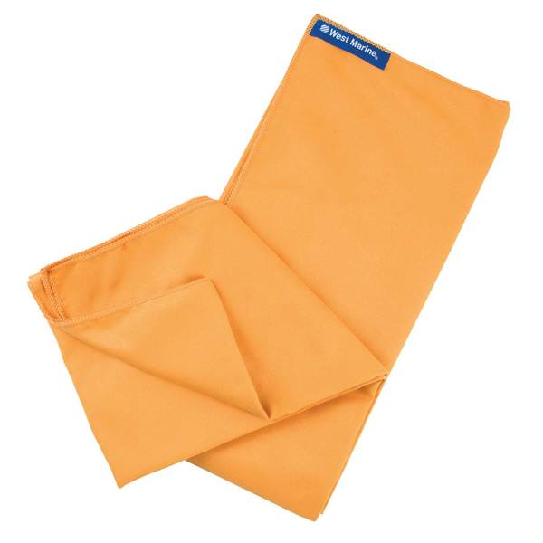 Solid Orange Microfiber Towel