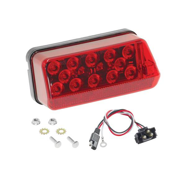 7-Function Waterproof Wrap-Around LED Taillights, Right/Curbside, for Trailers Over 80""