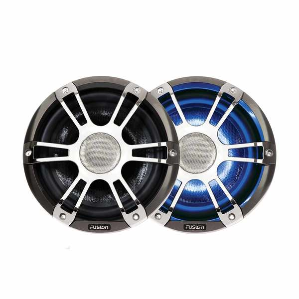 SG-CL77SPC Coaxial Signature Speakers, Sport Chrome/Gray with LED
