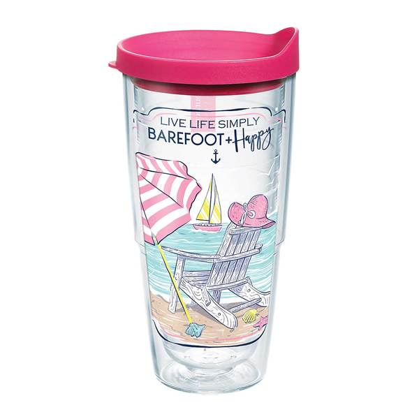 24 oz. Simply Southern® Barefoot and Happy Tumbler with Lid