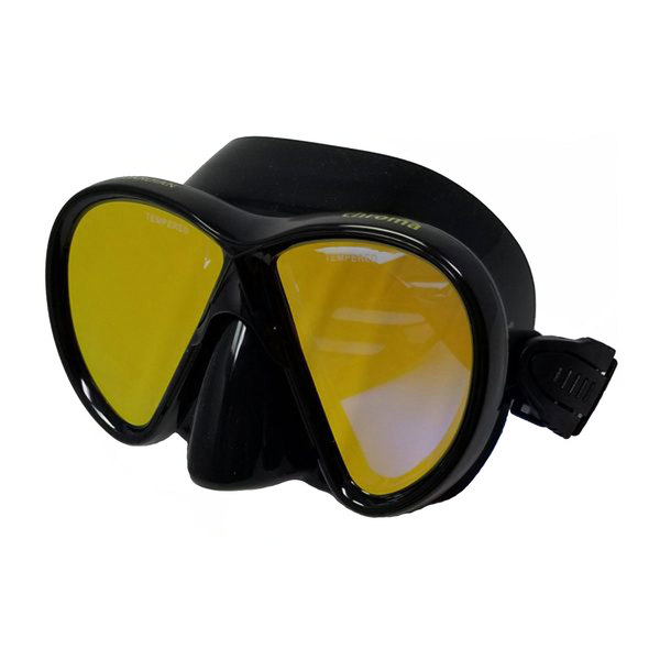 CHROMA HD Black/Gold Mirror Adult Mask