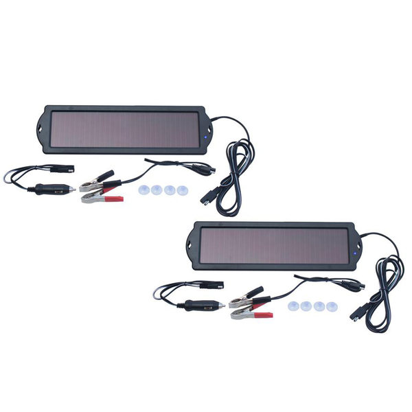 12-Volt Solar Battery Maintainers, 2-Pack