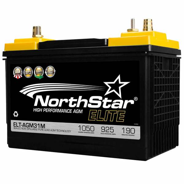 Elite High Performance Pure Lead 31M AGM Battery with SAE/Threaded Terminals