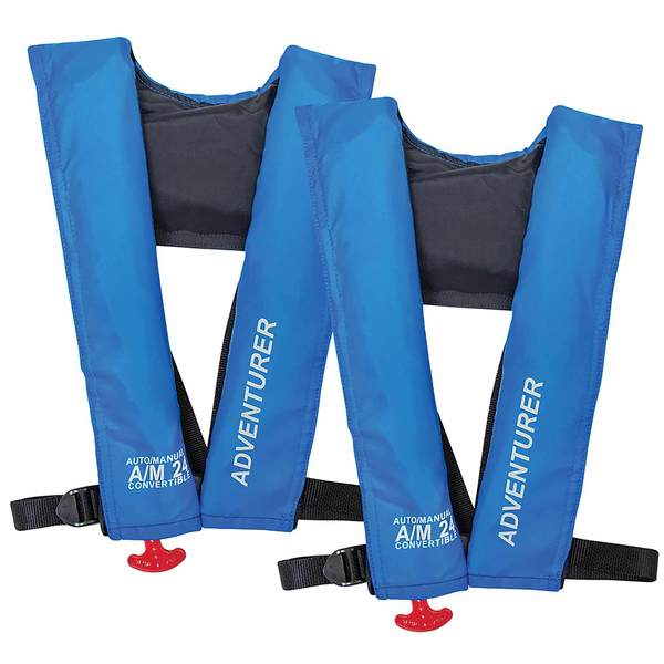 Adventurer Inshore Automatic/Manual Inflatable Life Jackets, 2-Pack