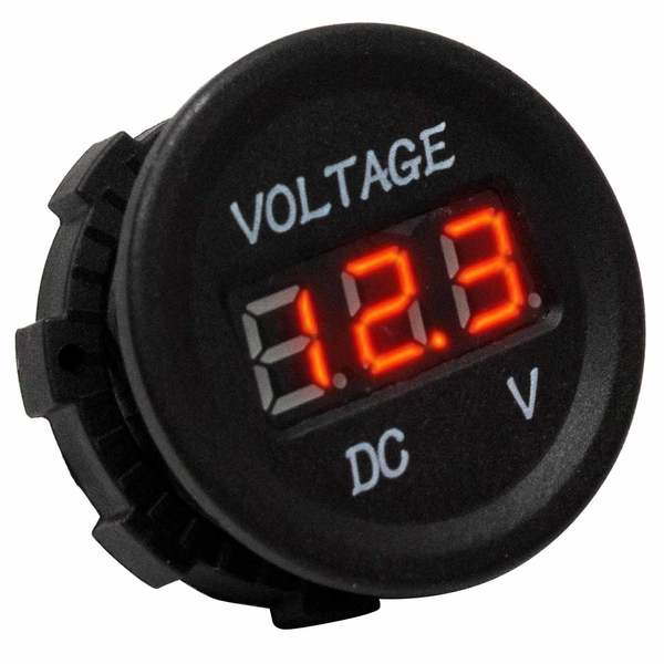 DC Socket Digital Voltmeter, 5-30V DC
