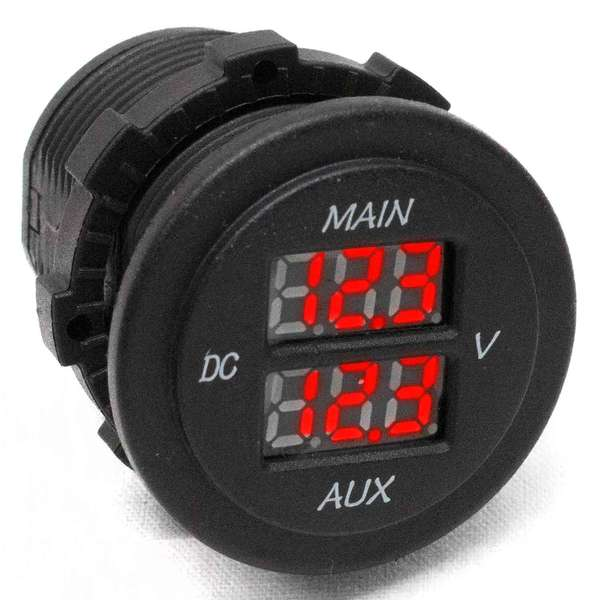 Rocker Switch Sized Dual Digital Voltmeter