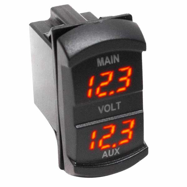 Socket Sized Dual Digital Voltmeter