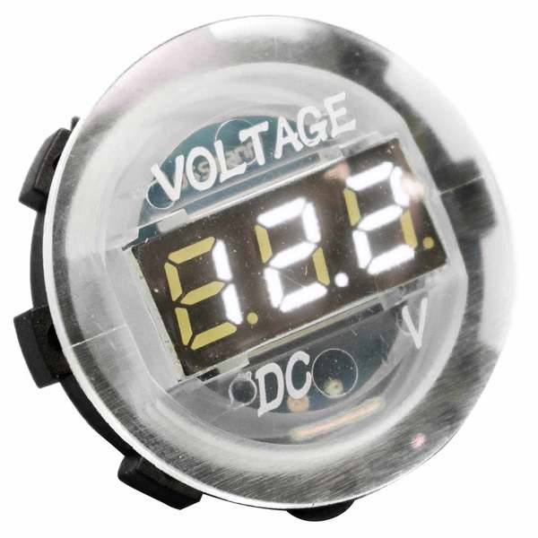 Clear Digital Voltmeter, White LED