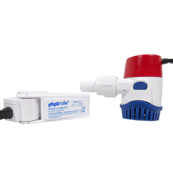360 GPH Bilge Pump Kit with Rule-A-Matic Non Mercury Float Switch