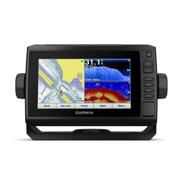 ECHOMAP Plus g3 73cv Fishfinder/Chartplotter Combo with GT22 Transducer and US LakeVu HD Charts