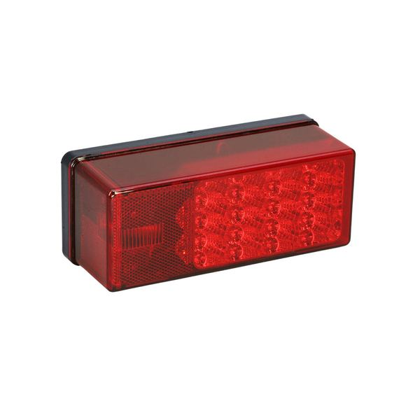 3 x 8 Low Profile Waterproof 7-Function LED Taillight, Right/Curbside, for Trailers Over 80""