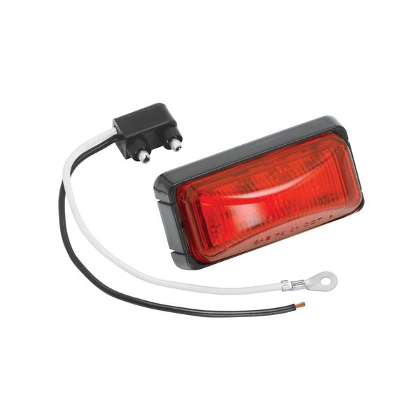 "2"" LED Red Marker/Clearance Light, Base and Connector"