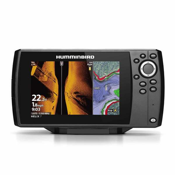 Helix 7 Chirp MSI GPS G3 Fishfinder/Chartplotter Combo with Transducer and Navionics+ Charts