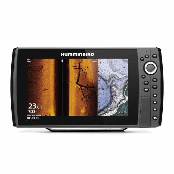 Helix 10 Chirp MSI+ GPS G3N Fishfinder/Chartplotter with Transducer and Basemap Charts