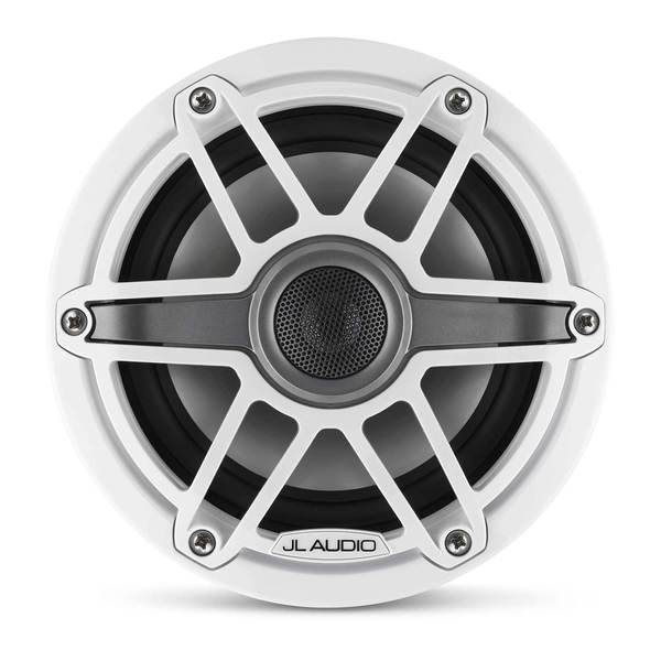 "M6-650X-S-GwGw 6.5"" Marine Coaxial Speakers, White Sport Grilles"
