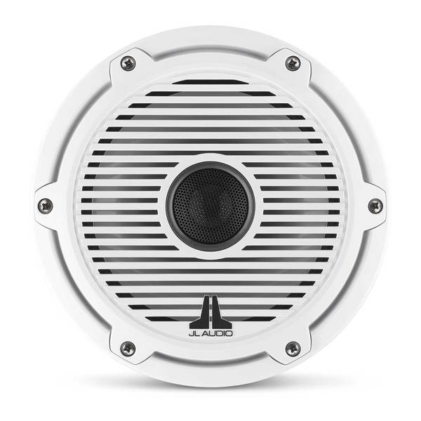 "M6-770X-C-GwGw 7.7"" Marine Coaxial Speakers, White Classic Grilles"