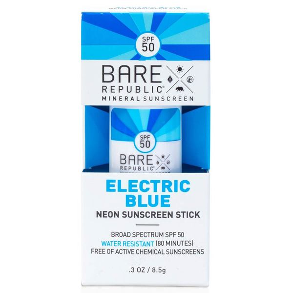 Mineral SPF 50 Neon Electric Blue Color Stick, .3oz.