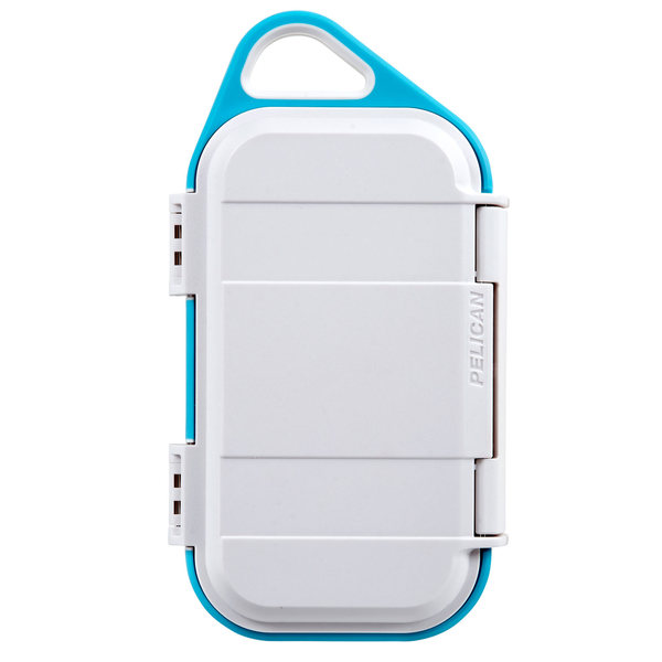 G40 Waterproof Go Case, White/Aqua