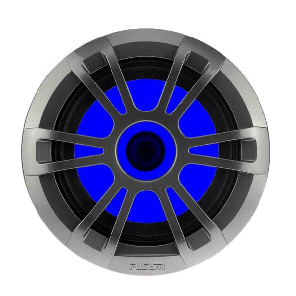 "EL-FL651SPG 6.5"" 80 Watt Full Range Shallow Mount Sport Gray Marine Speakers with RGB LED Illumination"