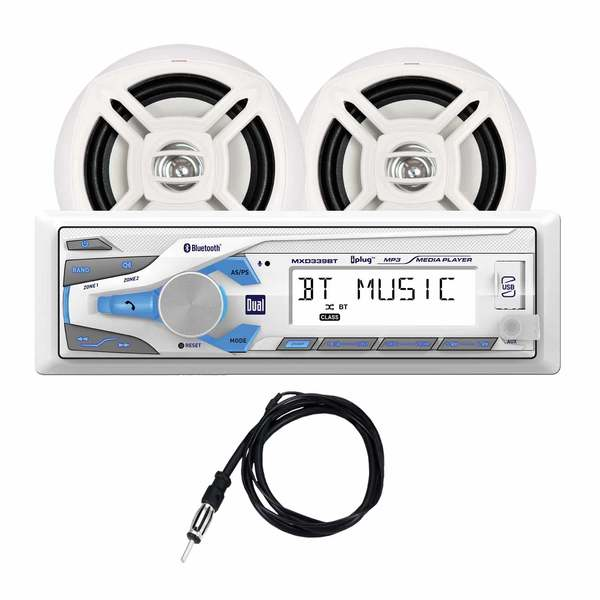MXCP49BT Marine Digital Media and Bluetooth Receiver/Speaker Package