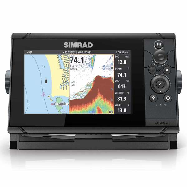 Cruise 7 Chartplotter/Fishfinder Combo with 83/200 Transducer and US Coastal Charts