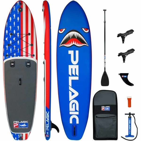 AquaRIG Inflatable Stand-Up Paddleboard Package, Americamo