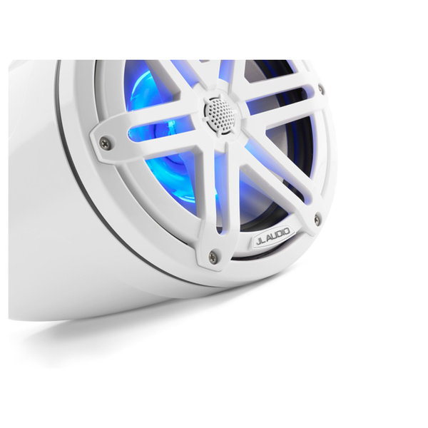 "M3-770ETXv3-Gw-S-Gw-i 7.7"" Enclosed Marine Coaxial Speaker System, Gloss White, White Sport Grilles with RGB LED Lighting"