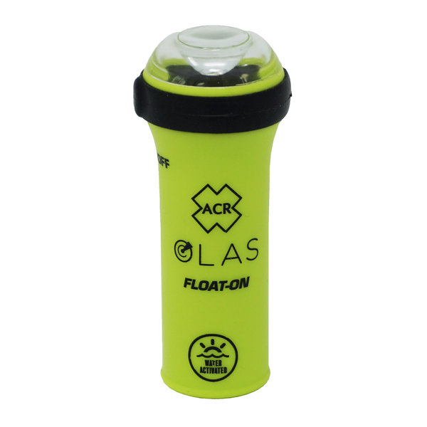 OLAS FLOAT-ON - Buoyant Wearable Crew Tracker with LED Flashlight and Water Activated Strobe