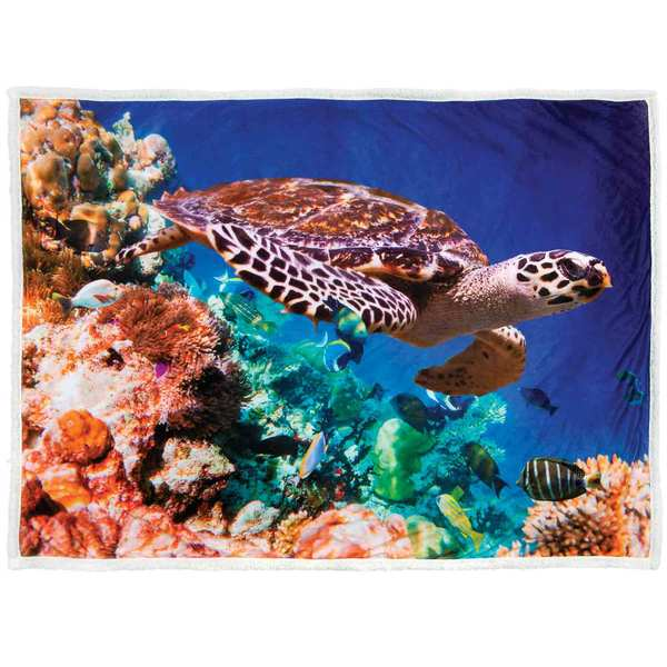 "50"" x 70"" Plush Blanket, Sea Turtle"