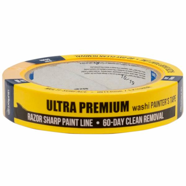 "1"" Ultra Premium Washi Painters Tape, Yellow"