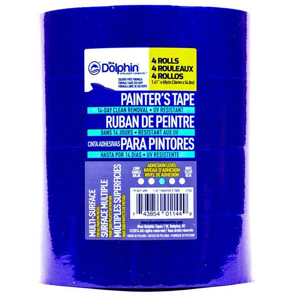 "1 1/2"" Blue Painter's Tape, 4-Pack"